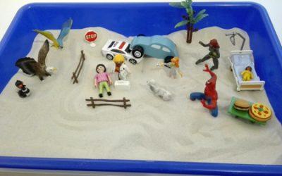 Las figuritas y la arena en la consulta
